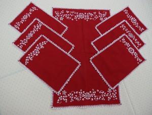 haftowane serwetki