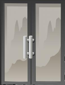 drzwi szklane składane