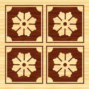 intarsja w drewnie